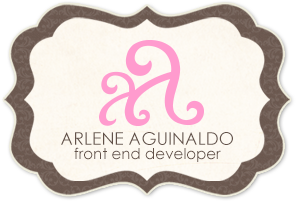 Arlene Aguinaldo Front End Developer
