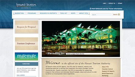 Hawaii Tourism Authority - Redesign