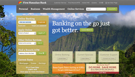 First Hawaiian Bank - Redesign