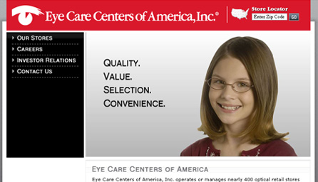 Eye Care Centers of America, Inc. ®