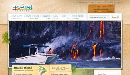Hawaii's Offical Tourism Site - Redesign
